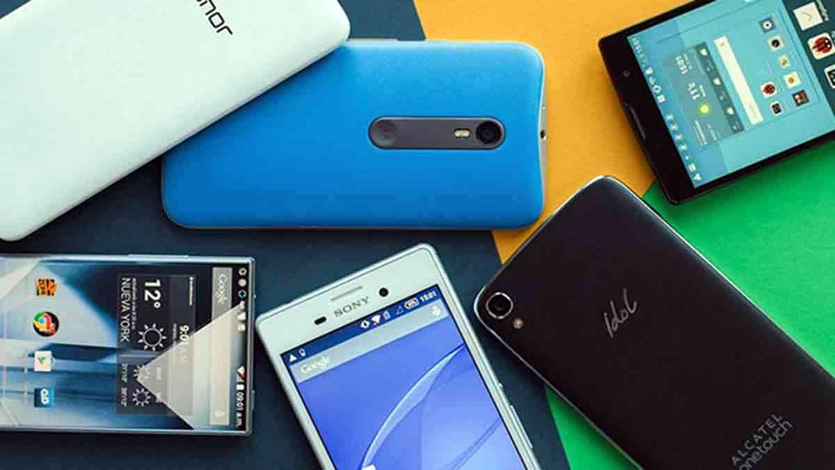 Conjunto de teléfonos móviles