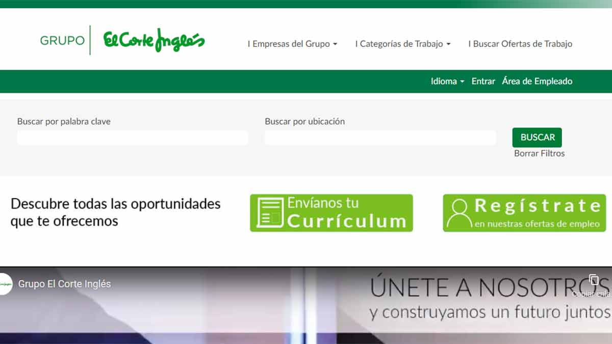 Buscar ofertas de trabajo El Corte Inglés