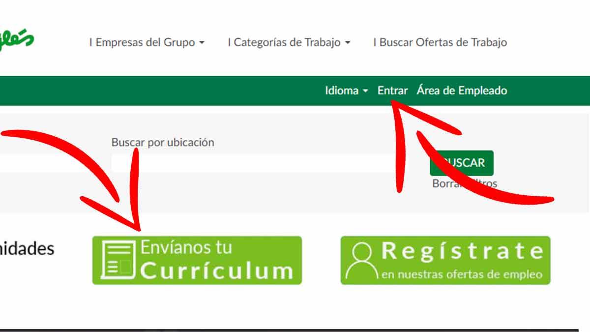 Registrarte en la web de El Corte Inglés