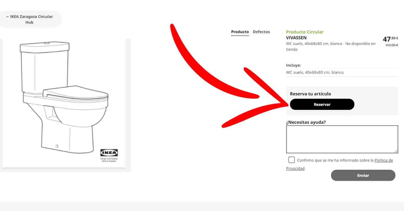 Reservar los artículos en Circular Hub de Ikea