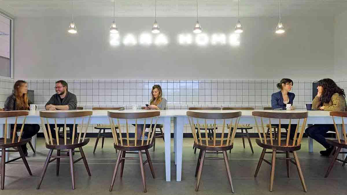 Sala de descanso de los empleados de Inditex