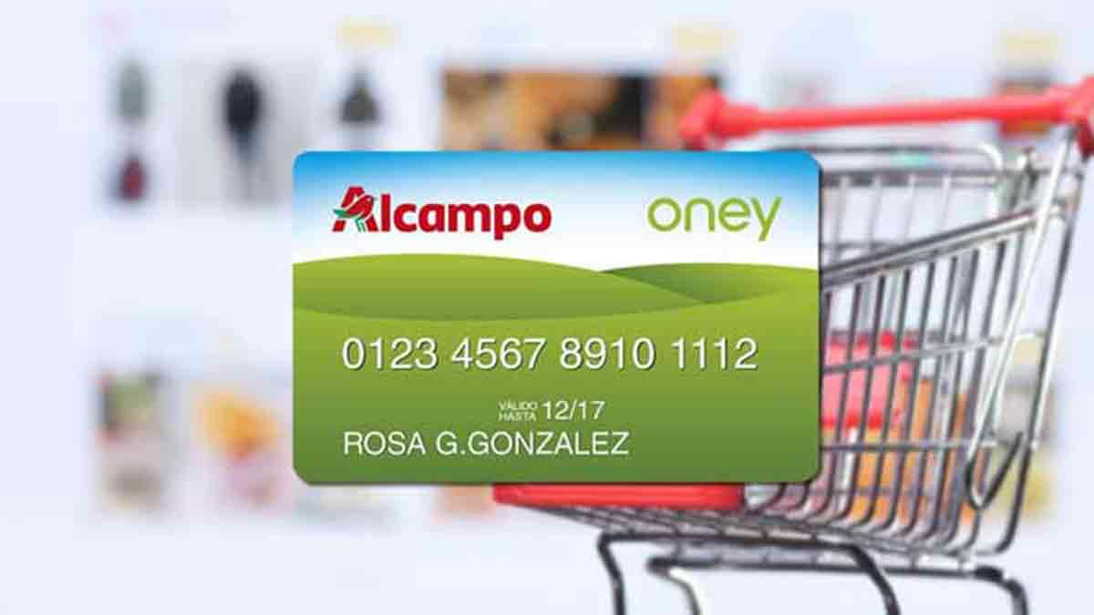 Tarjeta Oney de Alcampo