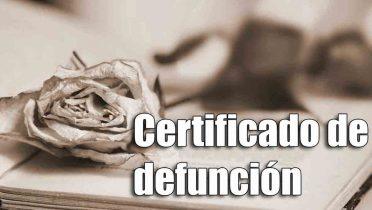 Cómo solicitar el certificado de defunción